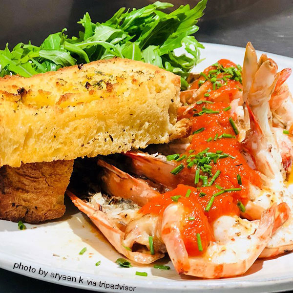 Restaurant breydel de coninc brugge restaurant de moules et de homard - Accompagnement gambas grillees ...